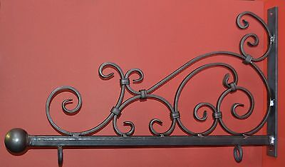 Wrought Iron Scroll Sign Bracket, Holder, 29 in., by Worthington Forge in USA