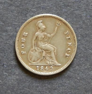 1842 Great Britain Silver 4 Pence
