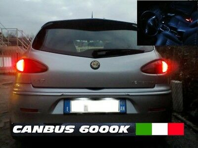 Kit Full Led Interni Alfa 147 Restyling Conversione Completa + Led Targa Canbus