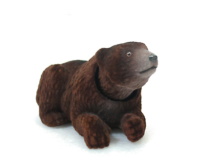 Hairy Bobblehead Brown Bear with Auto Dashboard Adhesive