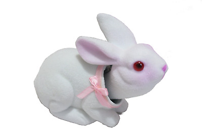 Charming Bobblehead Bunny Rabbit with Car Dashboard Adhesive (White)