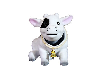 Domestic Bobblehead Cow with Car Dashboard Adhesive