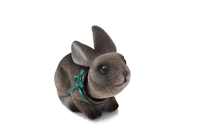 Charming Bobblehead Bunny Rabbit with Car Dashboard Adhesive