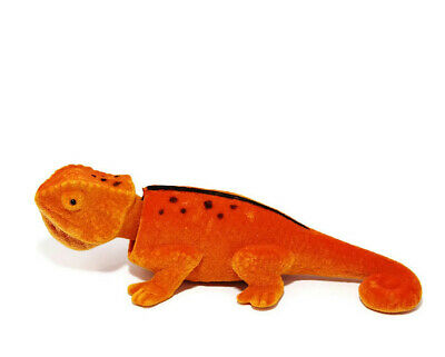 Ravishing Bobblehead Lizard with Car Dashboard Adhesive (Orange)
