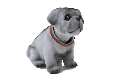 Delightful Bobblehead Pug Dog with Car Dashboard Adhesive