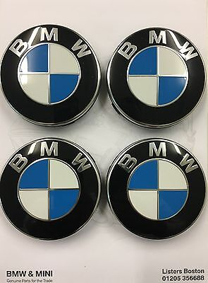 Genuine BMW Set of 4 Alloy Wheel Centre Caps 36136783536 E46/E90/F10/F20/F30/F32