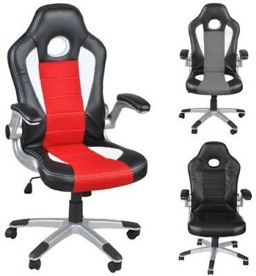 Office Chair Sport Seat Manager Chair Desk Chair Swivel Chair Bucket Seat #2738