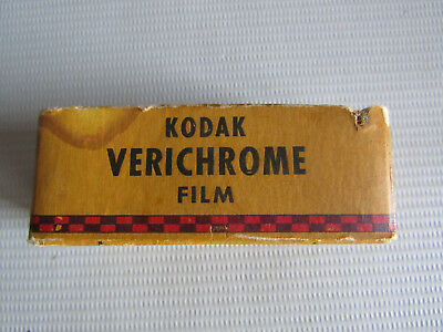 Kodak V 120 V120 Verichrome Film 8 Exposures Expired 1947 Sealed Orig. Box 6x9