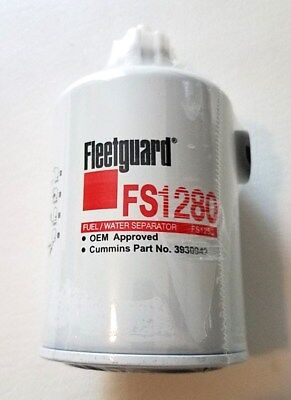 FLEETGUARD FS1280 - Fuel/Water Separator Spin-On (2 Filters) NEW