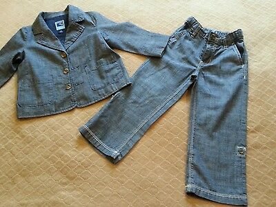 Old navy size 2T chambray suit