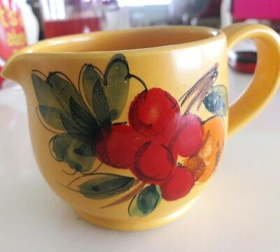 Italian Small Milk Pitcher Antique Hand Painted.numbered Mint Made In Italy