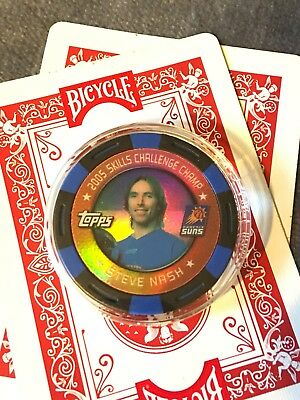 2005 Steve Nash Skill Challenge Champ Topps Poker Chip/Card Guard Phoenix Suns