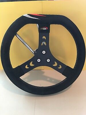 CRG NEW Kart Steering Wheel 3 Hole Style AFS.00174 Black Alacantra Shifter KZ
