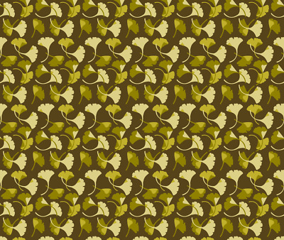 Ginkgo Arts And Crafts Style Craftsman  Fabric Printed by Spoonflower BTY