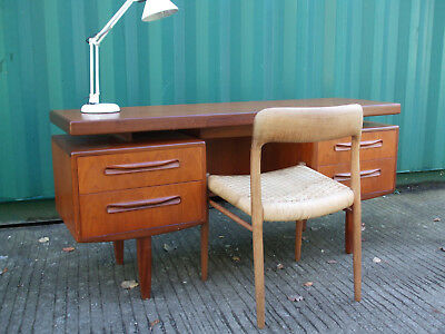 Vintage G-Plan Fresco teak floating top desk, excellent stylish PC workstation