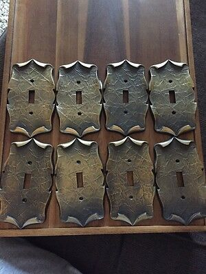 VINTAGE AMEROCK CARRIAGE HOUSE SWITCH PLATE COVERS. Lot of 8