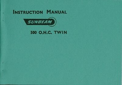 Sunbeam S7 S8 Instruction Manual 1957 by Sunbeam Motorcycles Reprinted