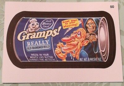 2014 Topps Wacky Packages Series 1 Mint Gramps Really Old Fashioned Rolls #50