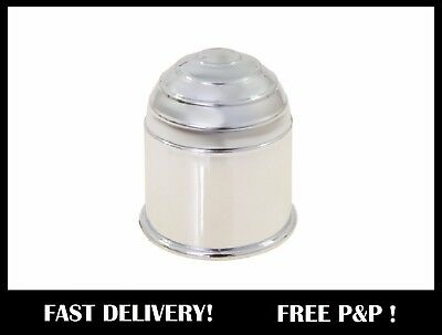 Plastic CHROME Tow Ball Cover Cap 50mm