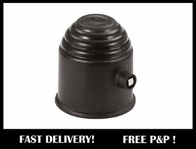 Lockable Plastic BLACK Tow Ball Cover Cap 50mm
