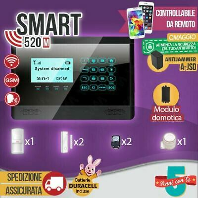 Antifurto Allarme Touch Screen Casa Combinatore Gsm Wireless Cellulare Smart520M