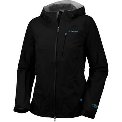 NEW COLUMBIA TECH ATTACK JACKET Women's Black Medium-Large Rain Shell MSRP $190