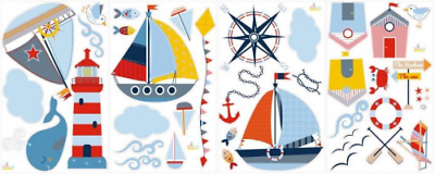 Sticker Sail Away Nursery Boy/Girl Room Removable Peel Stick Wall Art Home Decor