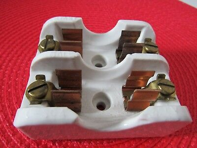 Bryant 1917 Porcelain Cartridge Fuse Holder 2-Pole 1-30A 250V
