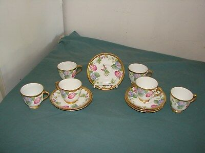 Vintage Royal Chelsea England HEAVY GOLD MORNING GLORY Cup and Saucer