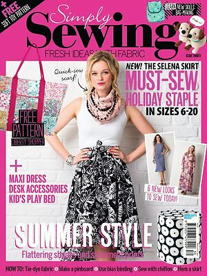 """Simply Sewing magazine - ISSUE 30 (May 2017) -  """"NEW"""""""