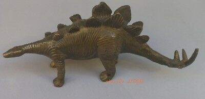 Collection of exquisite hand-carved old bronze ancient dinosaur statue za3