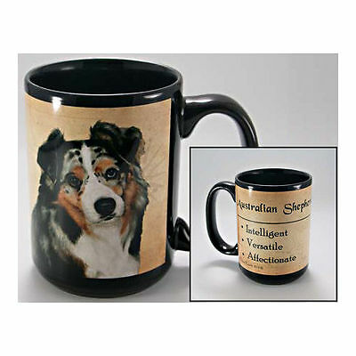 Australian Shepherd Faithful Friends Dog Breed 15oz Coffee Mug Cup