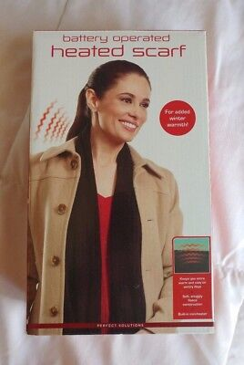 """62"""" Battery Operated Heated Scarf - Black - Perfect Solutions"""