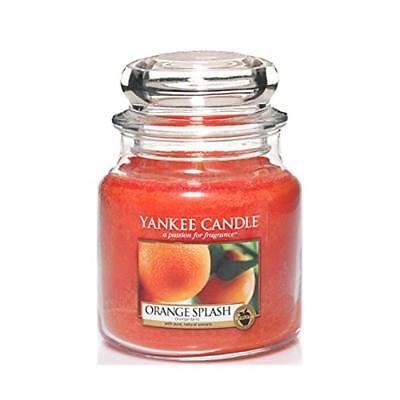 (TG. 10.2x9.8x13.2 cm) Yankee candle 1304318E Orange Splash Candele in giara med