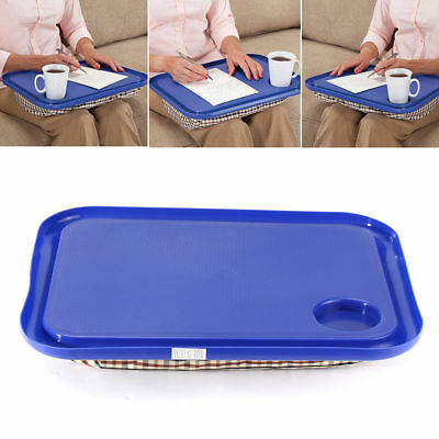 Lap Table Hard Plastic Top and Bean Bag Cushion Bottom Portable Multi-use WU3