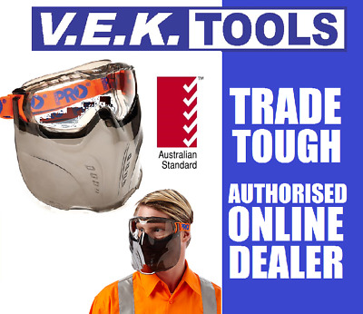 PRO CHOICE SAFETY Clear Goggles Face Shield Mask-Tradie,Dirt Motor Bike,Glasses