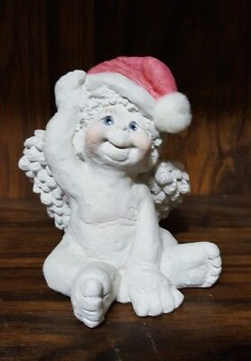 Dreamsicles Christmas Cherub Kristin Cast Art Figurine Santa Hat