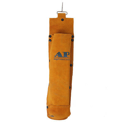 AP-9110G Golden FR Split Cowhide Leather Welding Rod Holder/Electrode Bag