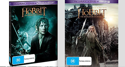 NEW The Hobbit An Unexpected Journey / The Desolation Of Smaug Steelbook Blu-ray