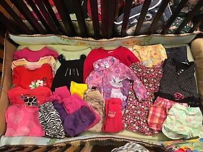 Large Lot Baby Girl Toddler Clothes Dresses, Shirts, Pants, Shorts -Size 3T