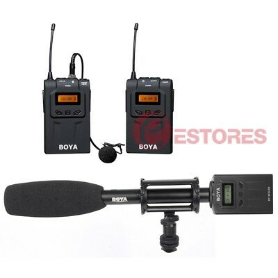 3in1 BOYA BY-WM6+BY-WXLR8+BY-PVM1000 Wireless Microphone System For EFP ENG DSLR