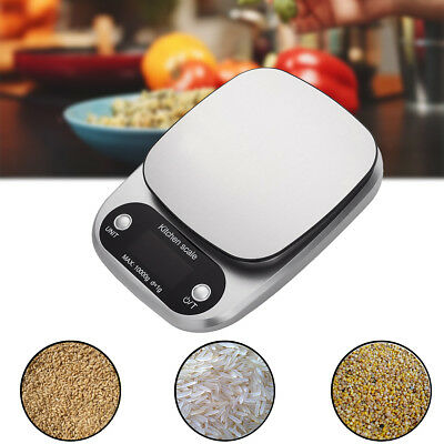 Digital Stainless Steel Kitchen Weighing Scale Backlit LCD 3KG/10KG with TARE