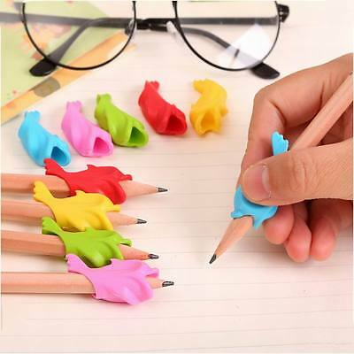 10Pcs Children Pencil Holder Silicon Correction Hold Pen Writing Grip Posture AU
