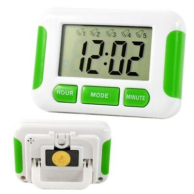 5 Groups Noisy Bell Kitchen Timer Alarm Clock 12/24 Hours Countdown Useful