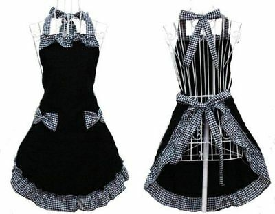 Fashion Women's Apron with Pockets Adjustable Bib Apron with Pockets Extra Long