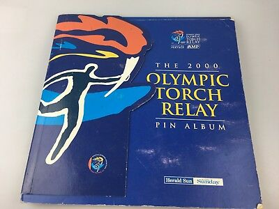 Sydney 2000 Olympics - Olympic Torch Relay Pin Album & Pins - Victoria & 15 Pins