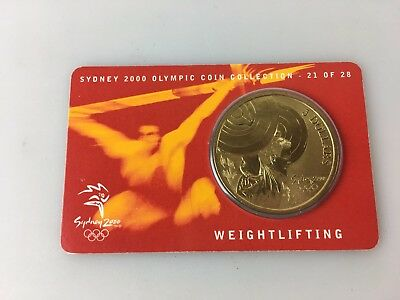 Sydney 2000 Olympics - Olympic $5.00 Coin - Weightlifting #21 Of 28