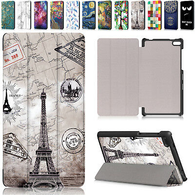 For Lenovo Tab 7 Essential TB-7304F/I/X Folding Pattern Leather Stand Case Cover