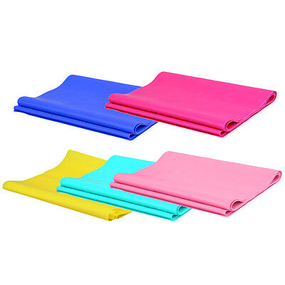 1.2m Elastic Yoga Pilates Rubber Stretch Exercise Band Arm Back Leg Fitness TE
