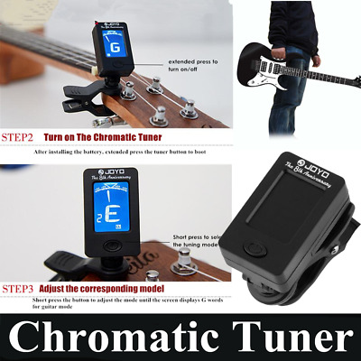 Chromatic Clip-On Digital Tuner Acoustic Electric Guitar Bass Violin Ukulele OG